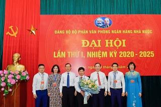 Đại hội Đảng bộ Văn phòng NHNN lần thứ I, nhiệm kỳ 2020-2025 thành công tốt đẹp
