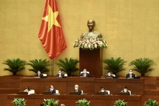 Quốc hội thảo luận về kinh tế - xã hội và công tác phòng, chống dịch COVID-19