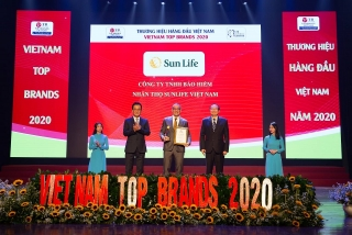 Sun Life Việt Nam đạt danh hiệu top 10 thương hiệu hàng đầu Việt Nam 2020