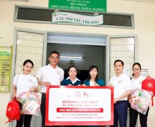 Generali trao tặng 500 phần quàcho các bệnh nhi khó khăn trên toàn quốc