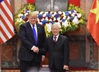 Tổng Bí thư, Chủ tịch nước Nguyễn Phú Trọng và Tổng thống Donald Trump chúc mừng 25 năm quan hệ ngoại giao Việt Nam - Hoa Kỳ