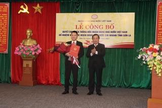 Công bố Quyết định bổ nhiệm Giám đốc NHNN Chi nhánh tỉnh Sơn La