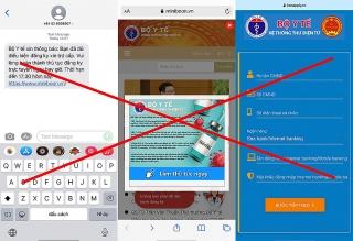 Mạo danh Bộ Y tế nhắn tin lừa trợ cấp Covid-19