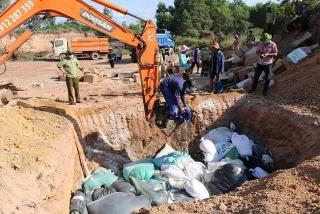 Quảng Bình: Tiêu hủy hàng hóa nhập lậu không rõ nguồn gốc