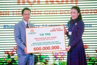 Tập đoàn Hưng Thịnh trao tặng 600 triệu cho Viện Pasteur Nha Trang