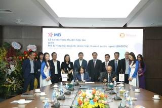 Hiệp hội Doanh nhân Việt Nam ở nước ngoàivà MB hợp tác phát triển nguồn lực