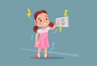 Đề phòng tai nạn do điện giật ở trẻ em