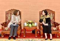 Phó Thống đốc Nguyễn Thị Hồng làm việc với Giám đốc quốc gia WB tại Việt Nam