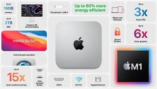 Mac Mini dùng chip Apple M1 nhanh hơn và rẻ hơn chip Intel