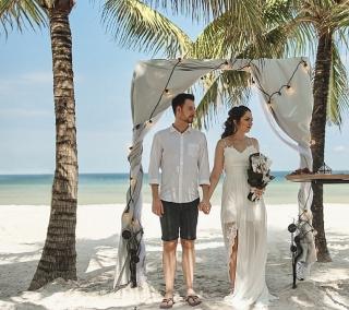 """""""Mùa vàng"""" hạnh phúc tại thiên đường cưới đảo Ngọc"""