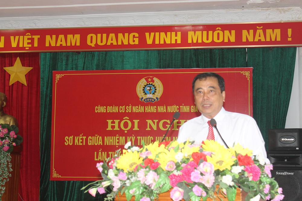 Công đoàn cơ sở NHNN chi nhánh tỉnh Gia Lai sơ kết giữa nhiệm kỳ