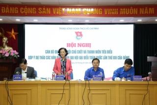 Lấy ý kiến góp ý của cán bộ chủ chốt Đoàn, Hội vào dự thảo các văn kiện trình Đại hội XIII của Đảng