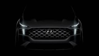 Hyundai Santa Fe 2021 ra teaser trước khi mở bán vào tháng 9