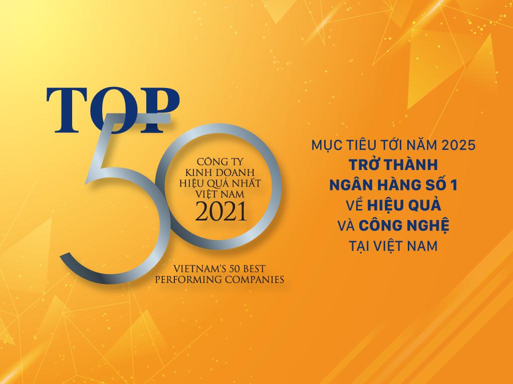SHB được vinh danh Top 50 doanh nghiệp kinh doanh hiệu quả