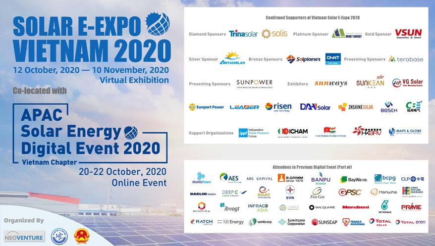 Vietnam Solar E-Expo 2020: Nền tảng kết nối kinh doanh trực tuyến một cửa đầu tiên