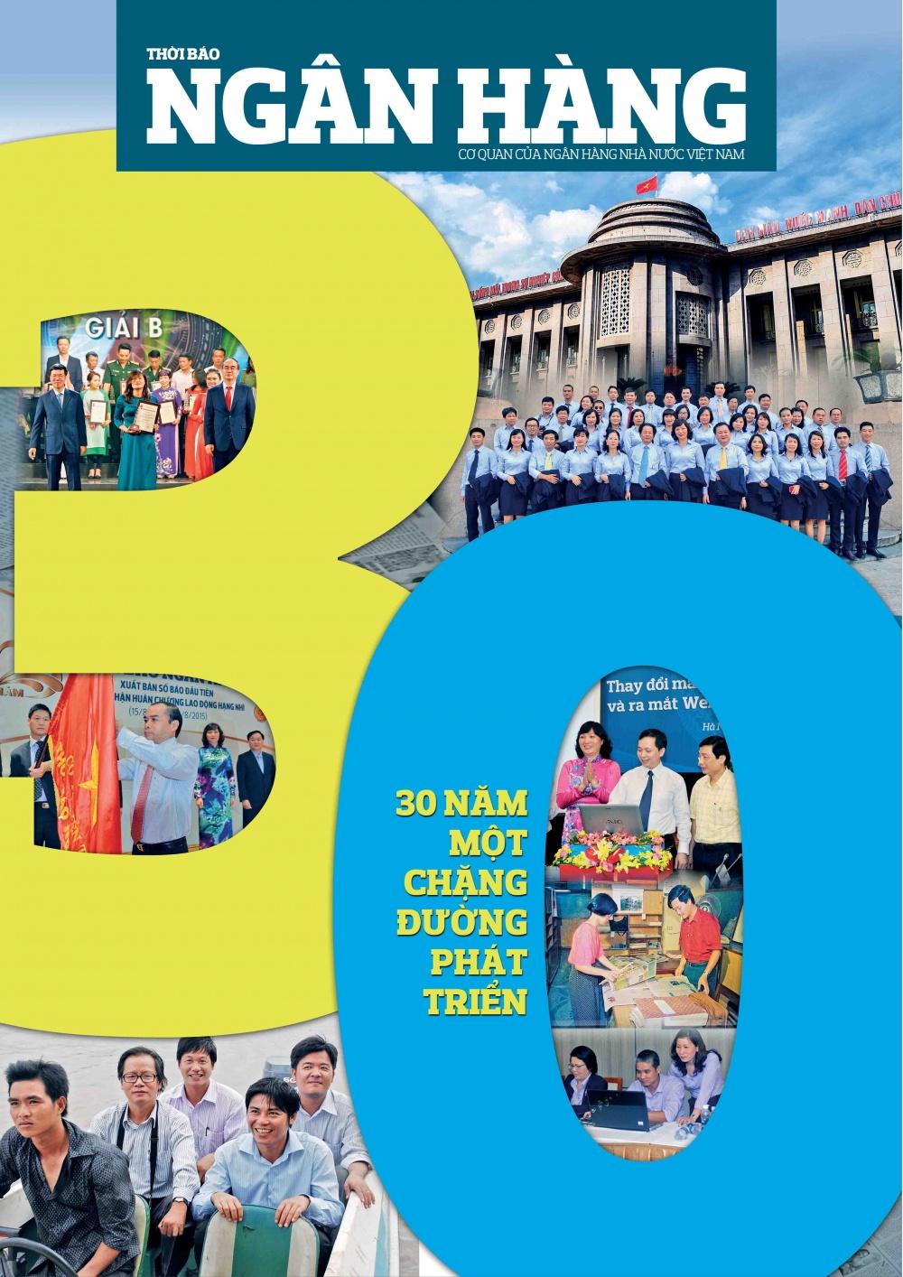 Số đặc biệt kỉ niệm 30 năm ngày Thời báo Ngân hàng xuất bản số báo đầu tiên